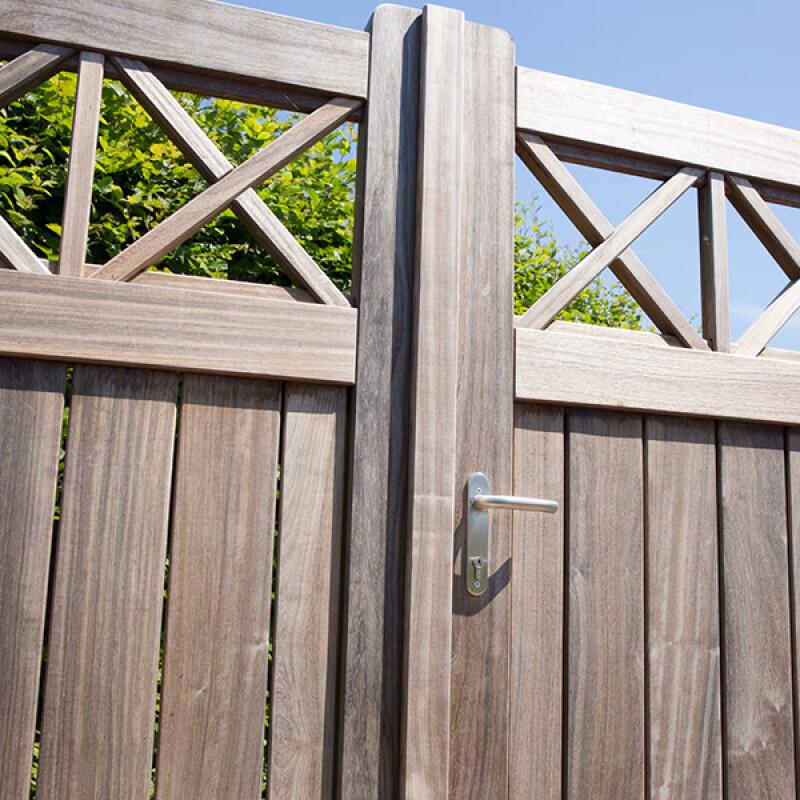Locinox H-WOOD insteekslot voor houten poorten – RVS