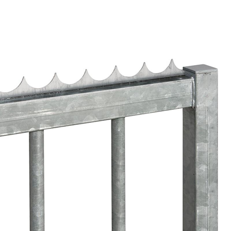 Locinox puntenkam – L-profiel L= 2000 mm – Dacromet – Opschroefbaar
