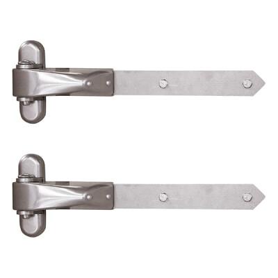 Locinox vandalismebestendige 4D-scharnieren - Voor houten poorten - RVS - Set van 2 stuks