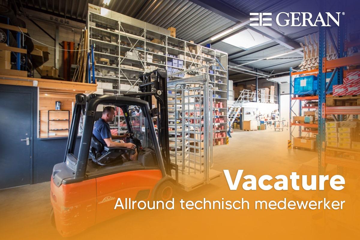 Vacature: Allround technisch medewerker