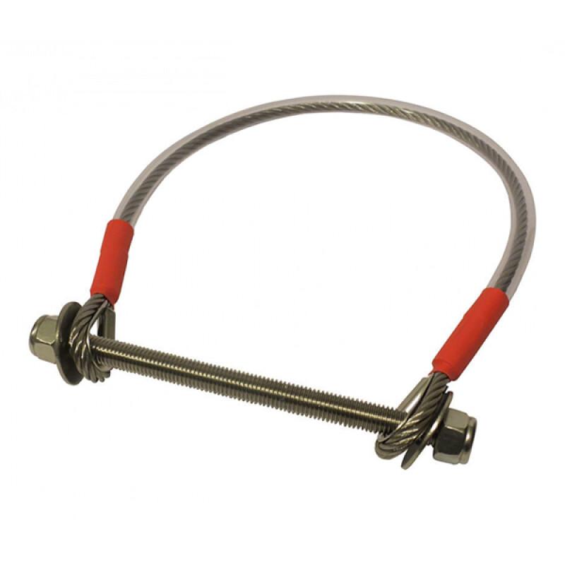 Veiligheidskabel voor poort – RVS – 400 x 6 mm