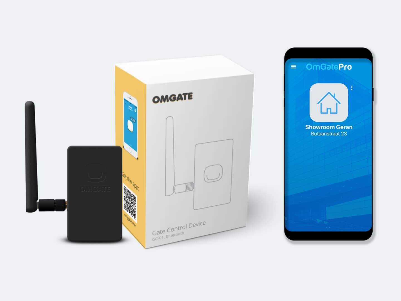 Poort, slagboom of garagedeur openen met smartphone app