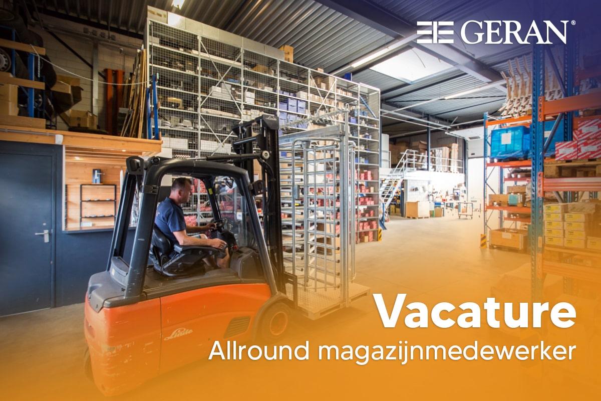 Vacature – Allround magazijnmedewerker