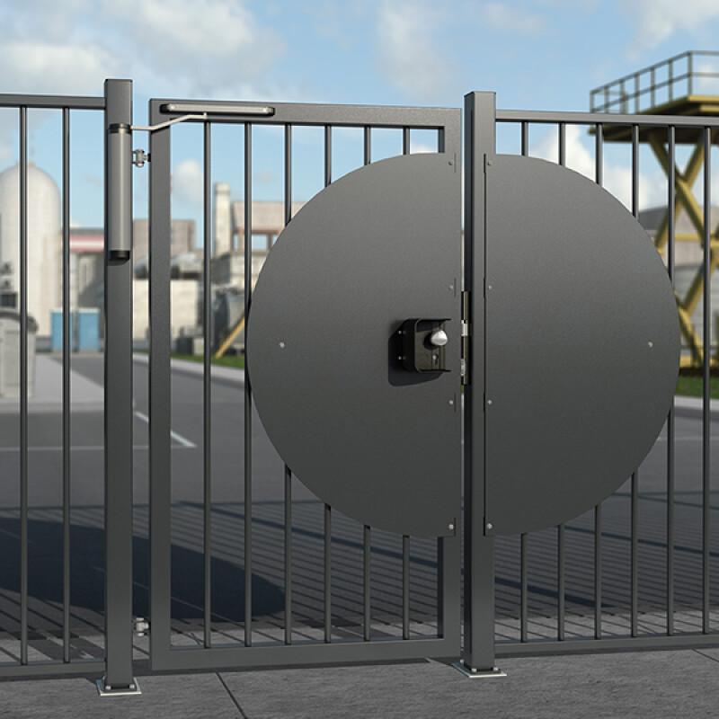 Locinox afschermkap SHROUD-LA – Voor poortsloten – Mat zwart